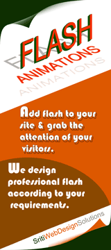 Add flash animations to your site & grab the attention of your visitors. We design professional flash according to your requirements.